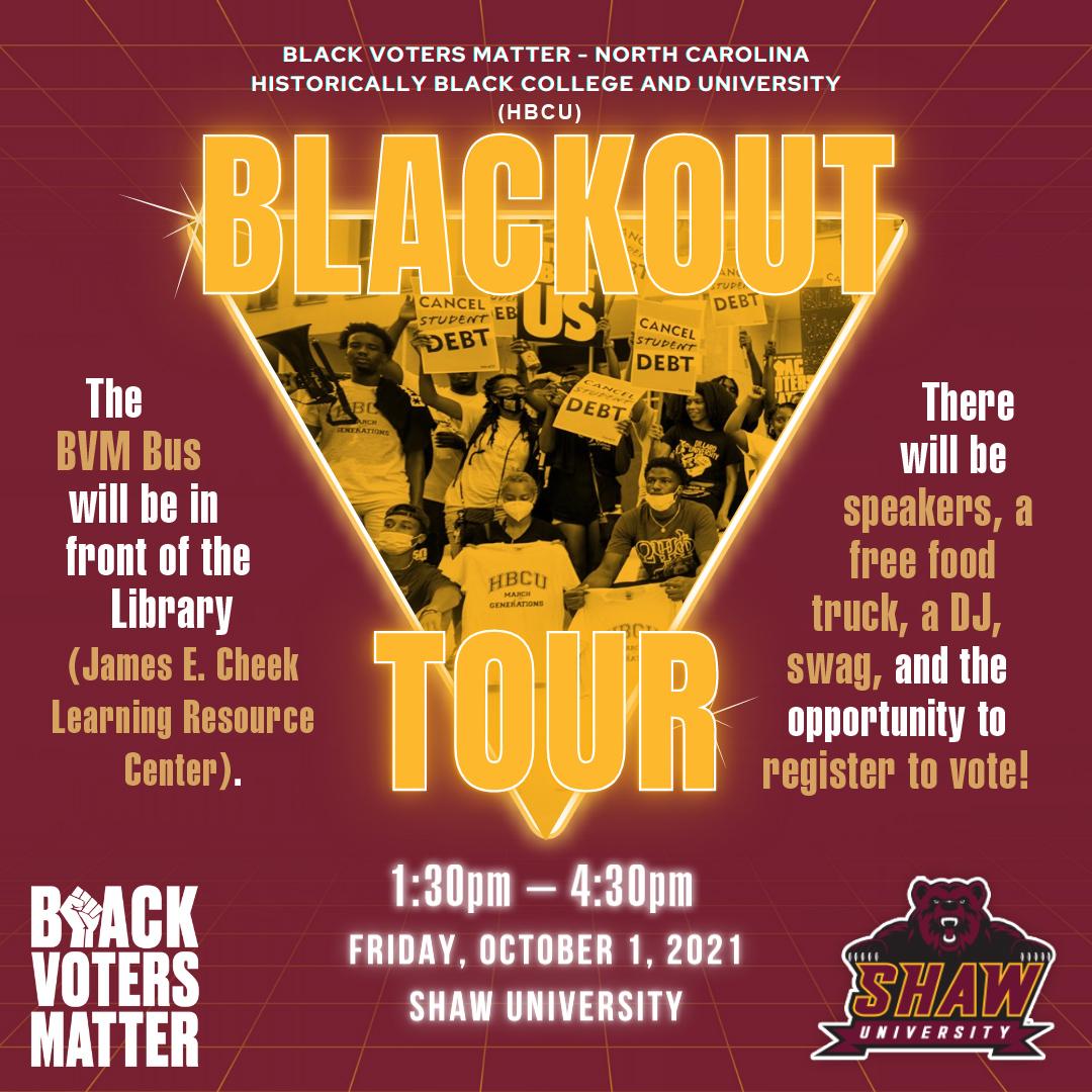 Black Voters Matter - Blackout Tour