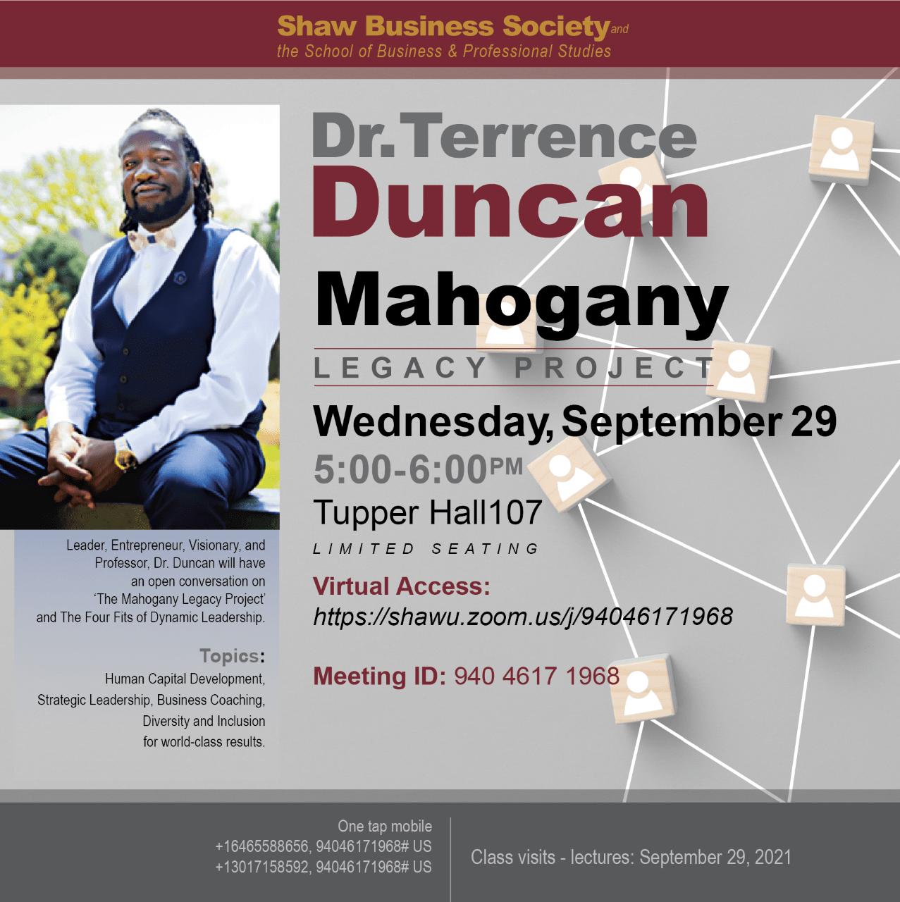 Shaw Business Society: The Mahogany Legacy Project