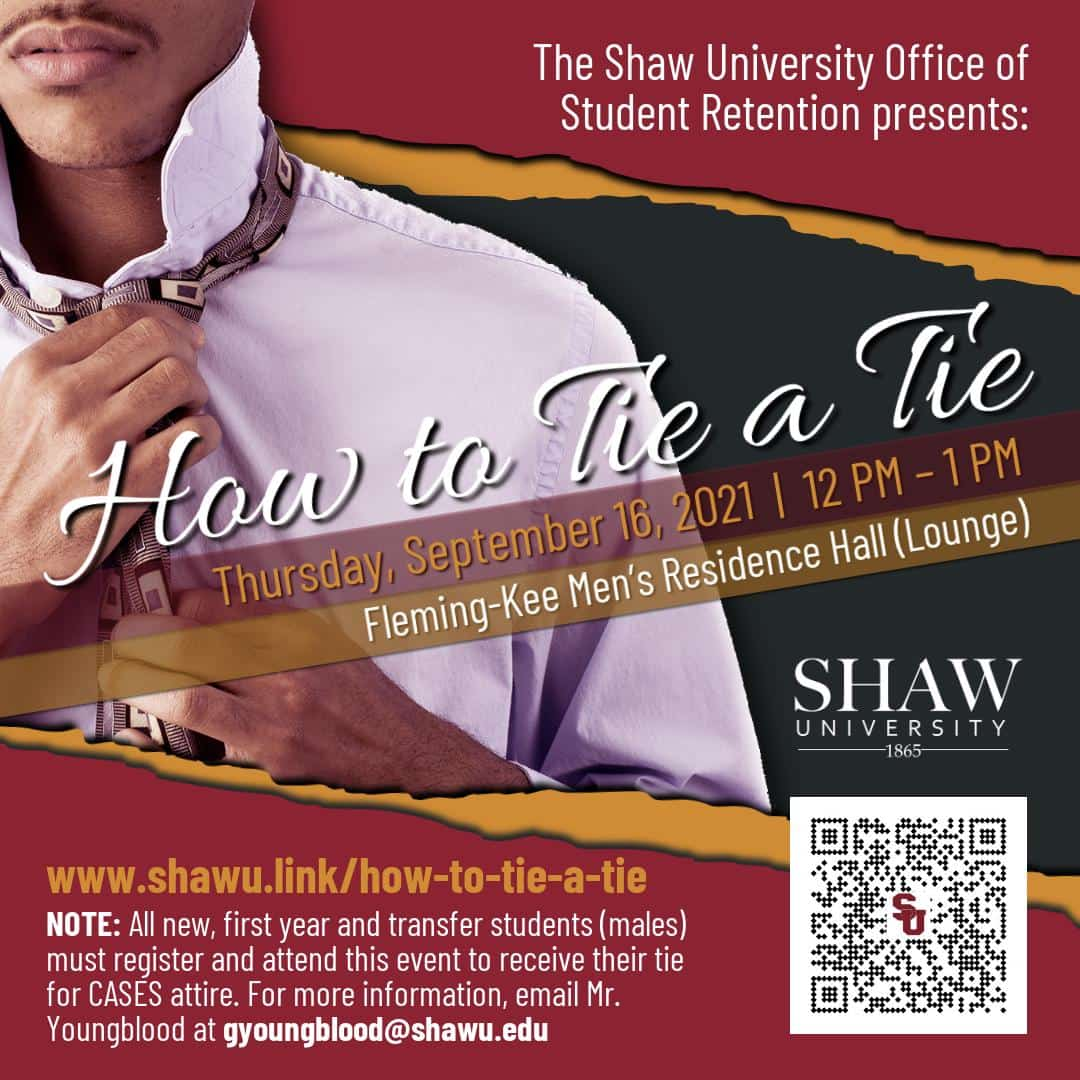 how-to-tie-a-tie Shaw University