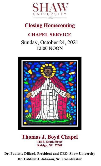Closing Homecoming Chapel Service